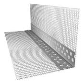 Уголок фасадный перфорированный ПВХ с сеткой 90х100х2500 мм